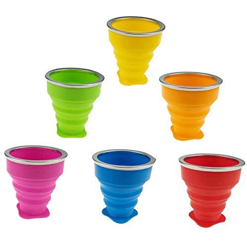 Juego de 6 tazas plegables con...