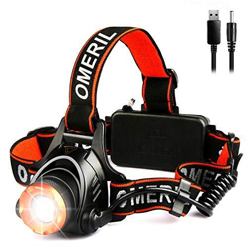 OMERIL Linterna Frontal LED,...