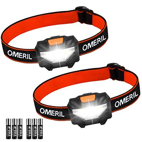 OMERIL Linterna Frontal LED (2...