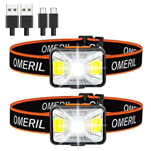 Linterna Frontal LED USB...